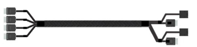 Intel AXXCBL625CVCX cable interface/gender adapter 4 x OCuLink SFF-8611 Black