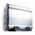 MCL HDD external aluminium case USB 2.0 Plata USB con suministro de corriente