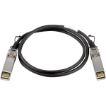 """Brocade 10Gbps direct-attached SFP+ 1m coaxial cable Direct Attach Copper 39.4"""" (1 m) SFP+ Black"""