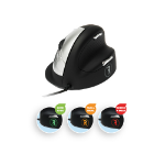 R-Go Tools R-Go HE Break Mouse, Ergonomic mouse, Anti-RSI software, Medium (Hand Size 165-185mm), Right Handed, Wired