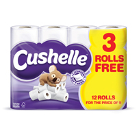 CUSHELLE TOILET ROLL WHITE PK12