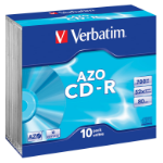 Verbatim CD-R AZO Crystal CD-R 700MB 10pc(s)