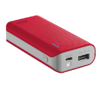 Trust Primo 4400 4400mAh Red power bank