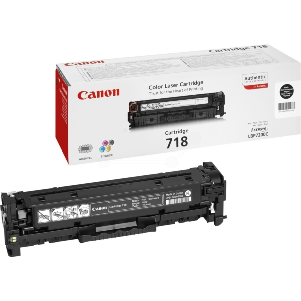 Canon 2662B002 (718BK) Toner black, 3.4K pages @ 5% coverage