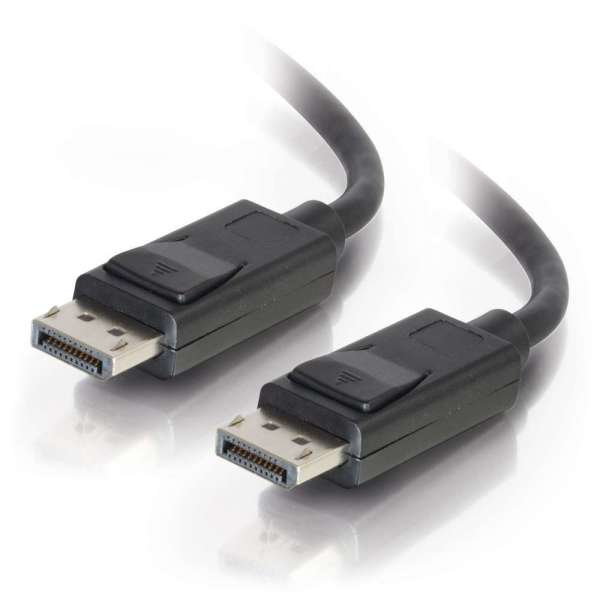 DisplayPort Cable With Latches M/m Black 5m