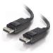 C2G 5m DisplayPort Cable with Latches 4K - 8K UHD M/M - Black Negro