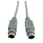 Cables Direct EX-101 PS/2 cable 3 m 6-p Mini-DIN Grey