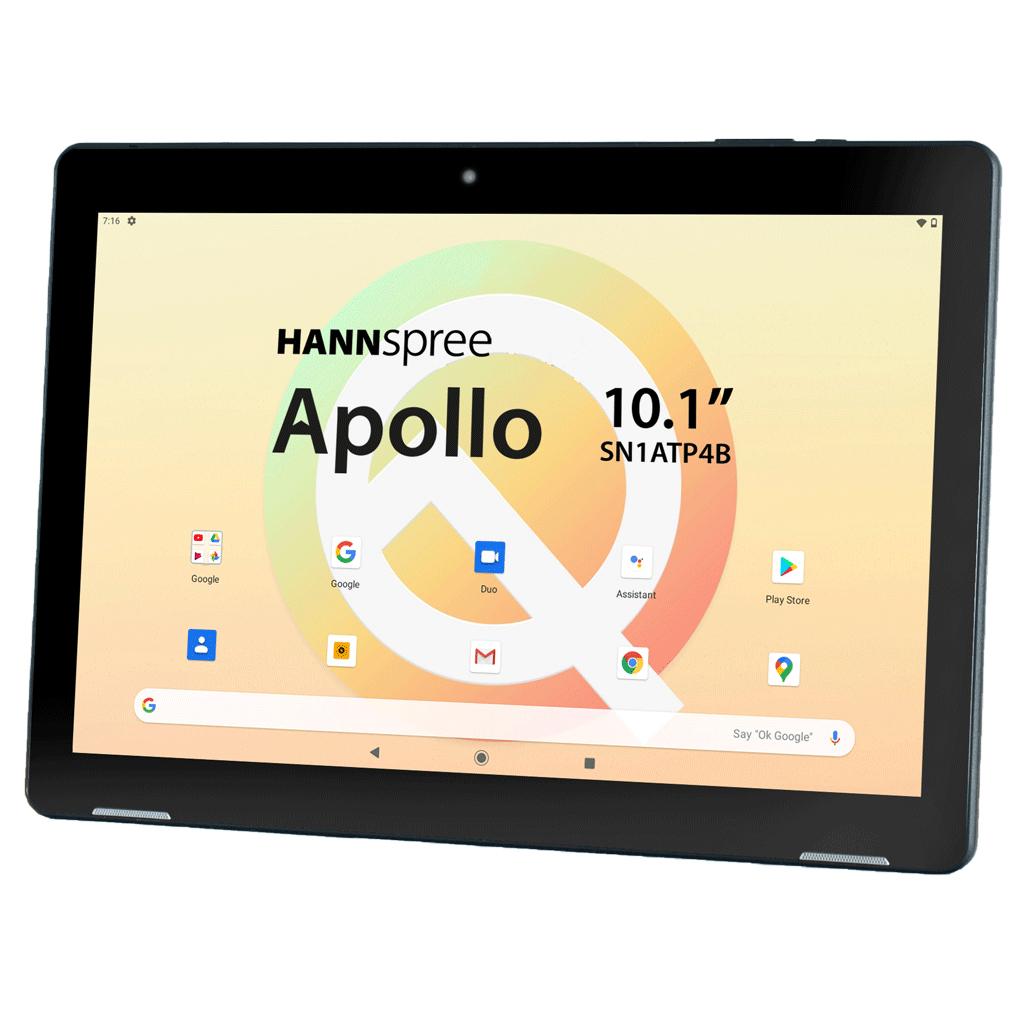 "Hannspree HANNSpad Apollo 25.6 cm (10.1"") Mediatek 3 GB 32 GB Wi-Fi 5 (802.11ac) Black Android 10"