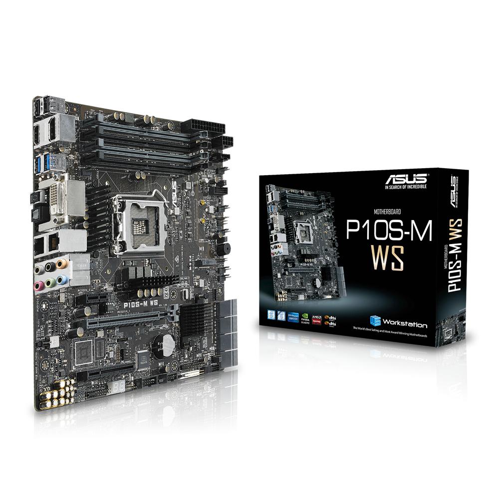 ASUS P10S-M WS server/workstation motherboard LGA 1151 (Socket H4) Intel® C236 microATX