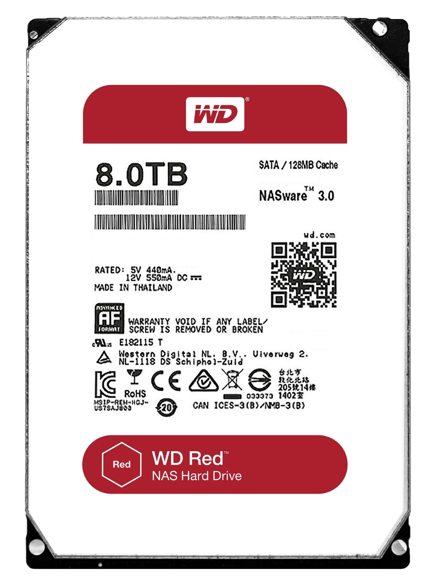 Western Digital Red 8000GB Serial ATA III internal hard drive