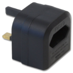 Lindy 73070 power plug adapter Black
