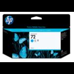 HP Cartucho de tinta ciano 72 DesignJet 130 ml Origineel Cyaan 1 stuk(s) Hoog (XL) rendement