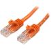 StarTech.com Cable de Red de 0,5m Naranja Cat5e Ethernet RJ45 sin Enganches