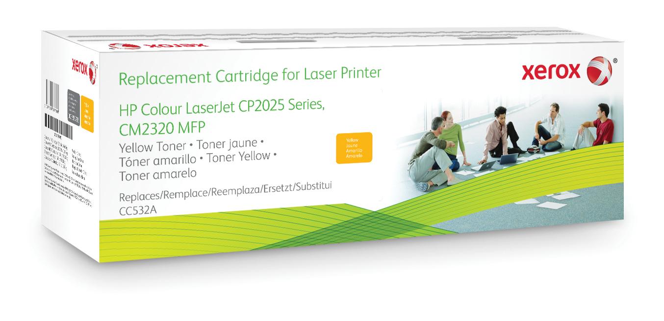 Xerox Cartucho de tóner amarillo. Equivalente a HP CC532A. Compatible con HP Colour LaserJet CM2320 MFP, Colour LaserJet CP2020/CP2025