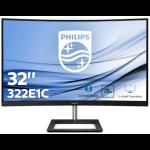 """Philips E Line 322E1C/00 LED display 80 cm (31.5"""") 1920 x 1080 Pixels Full HD LCD Gebogen Mat Zwart"""