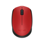Logitech M170 mice RF Wireless+USB Ambidextrous Black, Red