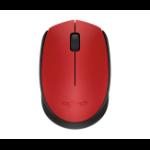 Logitech M170 RF Wireless+USB Ambidextrous Black,Red mice
