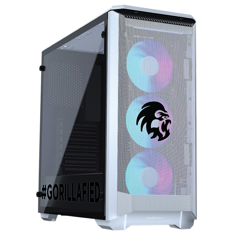 Gorilla Gaming LEVEL: 2.1 - Ryzen 7 3700X 3.6GHz, 16GB RAM, 256GB NVMe SSD, 1TB, RTX 2060 6GB