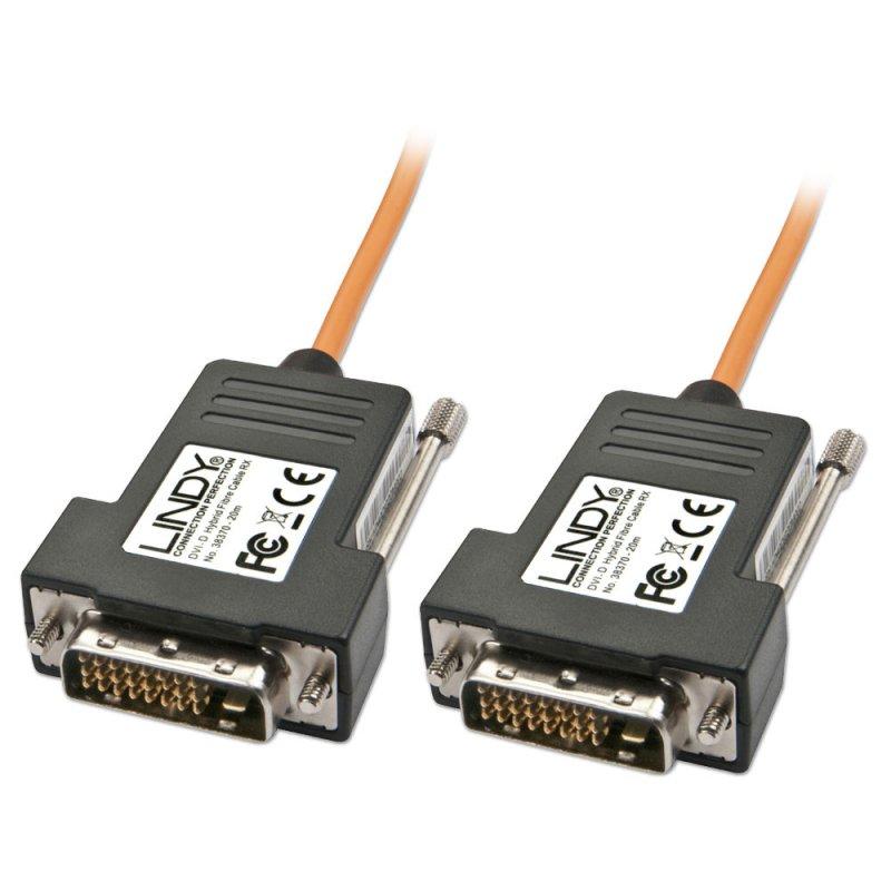 Lindy 38373 50m DVI-D DVI-D Black,Orange DVI cable