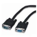 """4XEM 6ft VGA HD15 M/F VGA cable 72"""" (1.83 m) VGA (D-Sub) Black"""