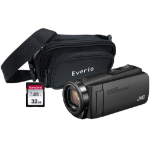 JVC GZ-R495 4GB Memory HD Quad Proof Camcorder Kit including 32GB SD and Case - Black