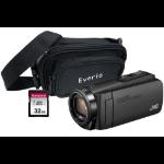 JVC GZ-R495 Black 4GB Memory HD Quad Proof Camcorder Kit inc 32GB SD and Case