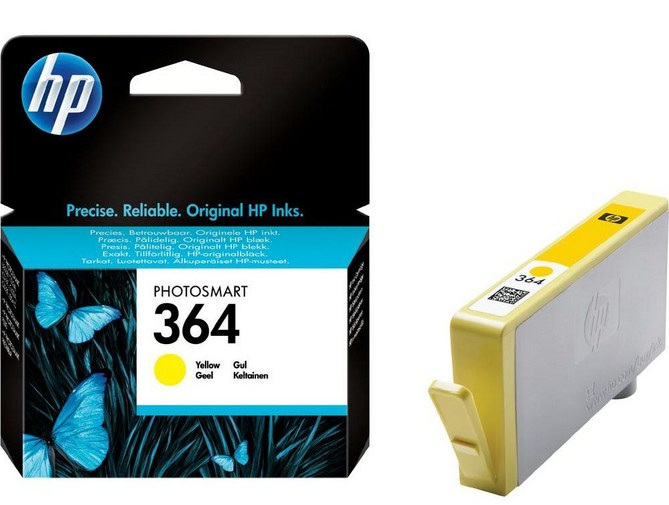 HP 364 Yellow Ink Cartridge inktcartridge Original Geel 1 stuk(s)