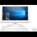"HP 20 -c400na 49.5 cm (19.5"") 1920 x 1080 pixels 2.00 GHz Intel® Celeron® J4005 White All-in-One PC"
