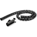 StarTech.com 1.5 m (4.9 ft.) Cable-Management Sleeve - Spiral - 25 mm (1 in.) Diameter