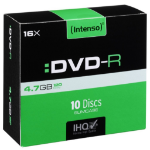 Intenso DVD-R 4.7GB, 16x 4.7GB DVD-R 10pc(s)