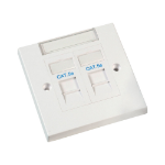 Videk 8612E RJ-45 White socket-outlet