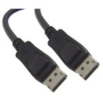 "4XEM DisplayPort M/M, 25ft. 299.2"" (7.6 m) Black"