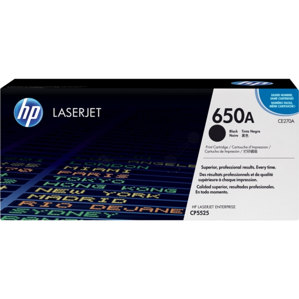 HP CE270A (650A) Toner black, 13.5K pages