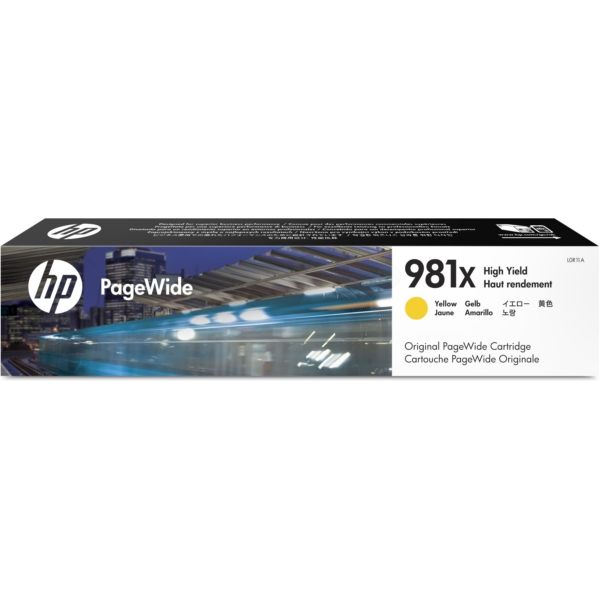 HP L0R11A (981X) Ink cartridge yellow, 10K pages