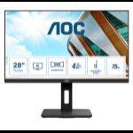"""AOC P2 U28P2A computer monitor 71.1 cm (28"""") 3840 x 2160 pixels 4K Ultra HD LED Black"""
