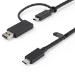 StarTech.com USBCCADP cable USB 1 m USB 3.2 Gen 2 (3.1 Gen 2) USB C Negro