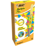 BIC Highlighter Flex marker 12 pc(s) Yellow Brush tip