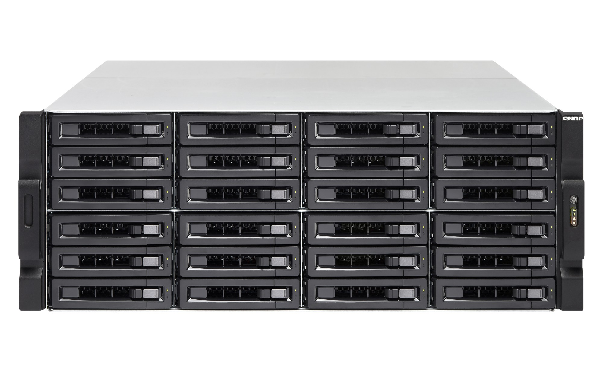 QNAP TS-EC2480U R2 NAS Rack (4U) Ethernet LAN Black,Grey