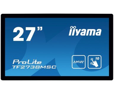"iiyama ProLite TF2738MSC-B1 touch screen monitor 68.6 cm (27"") 1920 x 1080 pixels Multi-touch Black"