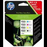 HP 920XL Origineel Zwart, Cyaan, Magenta, Geel Multipack 4 stuk(s)