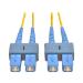 Tripp Lite Duplex Singlemode 8.3/125 Fiber Patch Cable (SC/SC), 1M