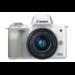 Canon EOS M50 + EF-M 15-45mm STM MILC 24,1 MP CMOS 6000 x 4000 Pixeles Blanco
