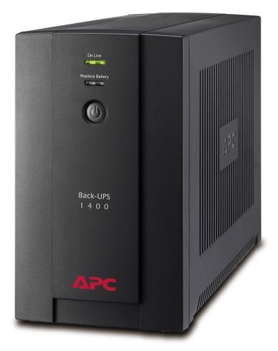 APC Back-UPS Line-Interactive 1400VA 6AC outlet(s) Tower Black uninterruptible power supply (UPS)