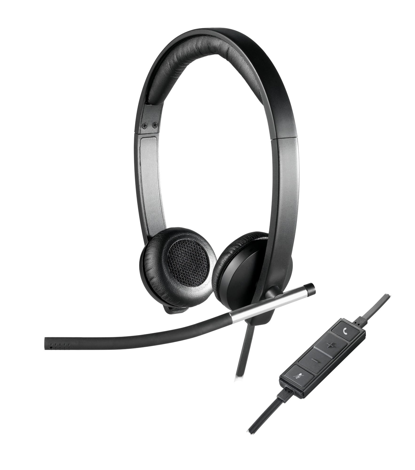 Logitech H650E hoofdtelefoon Hoofdband Stereofonisch Zwart, Zilver
