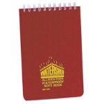 Chartwell Watershed Notebook 156x101mm Lined 50 Pages Red
