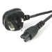 StarTech.com 6 ft Laptop Power Cord - 3 Slot for UK
