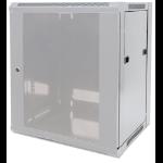 """Intellinet 19"""" Wallmount Cabinet, 15U, 770 (h) x 570 (w) x 450 (d) mm, Max 60kg, Flatpack, Grey"""