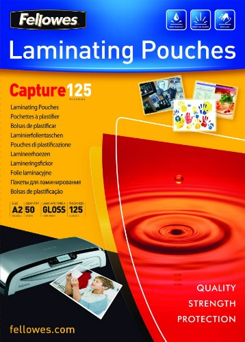 Fellowes A2 Glossy 125 Micron Laminating Pouch - 50 pack