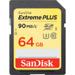 Sandisk ExtremePlus 64GB SDXC UHS-I Class 10 memory card