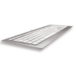 CHERRY STRAIT 3.0 keyboard USB QWERTY Pan Nordic Silver,White